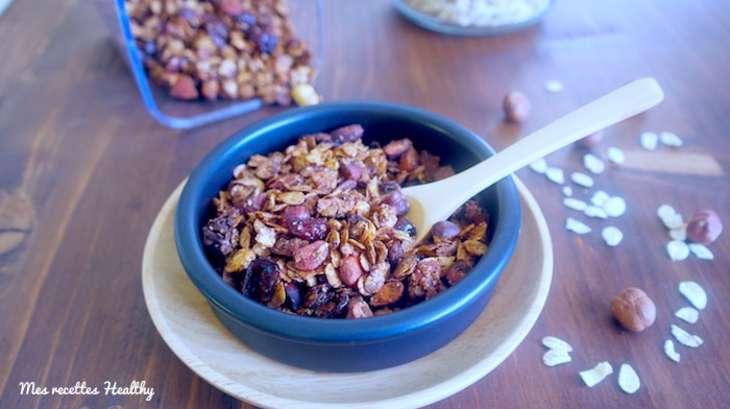Granola maison à l'orge et au sarrasin
