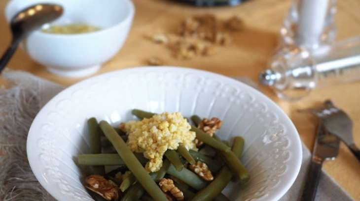 salade de haricots verts vinaigrette aux ufs durs recette par my parisian kitchen. Black Bedroom Furniture Sets. Home Design Ideas