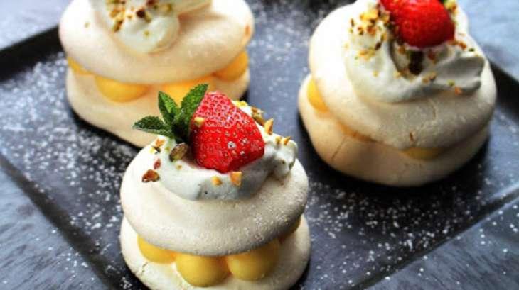 Minis pavlovas citron fraise