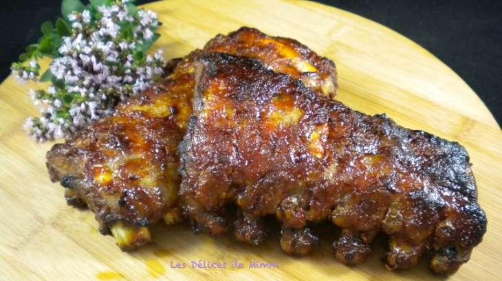 Travers de porc ou spare ribs caram lis s au miel recette par mimm - Cuisiner travers de porc ...