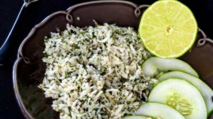 Riz fraîcheur aux herbes, crème de coco et au citron vert