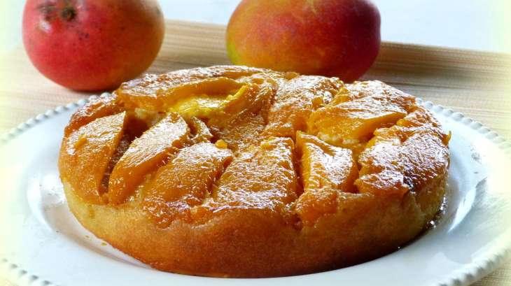Gâteau renversé aux mangues