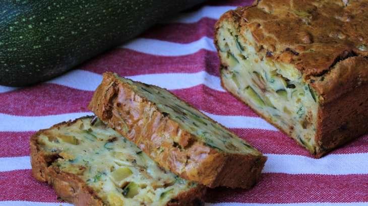 Cake aux Courgettes et aux herbes du Jardin