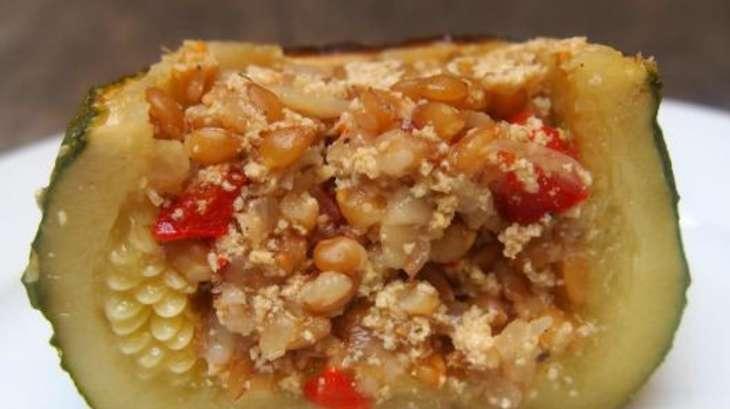 légumes farcis au petit épeautre et au tofu - recette par cuisiner