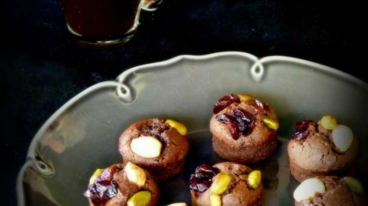 Mini-financiers au chocolat et aux fruits secs