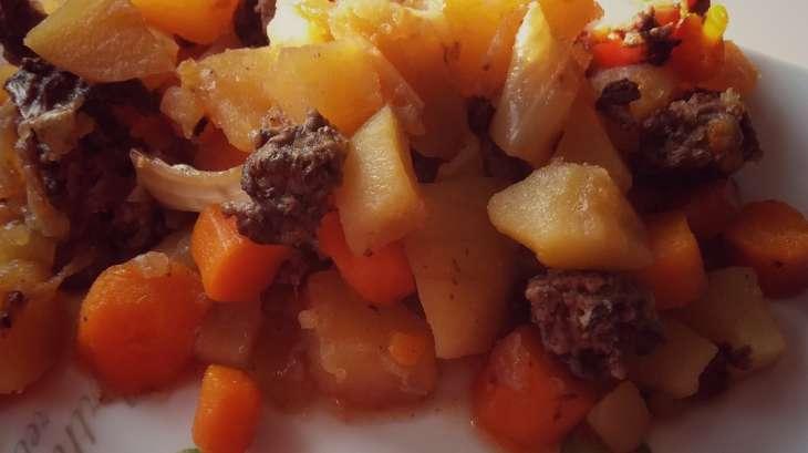 Haché de boeuf pommes de terre et carottes