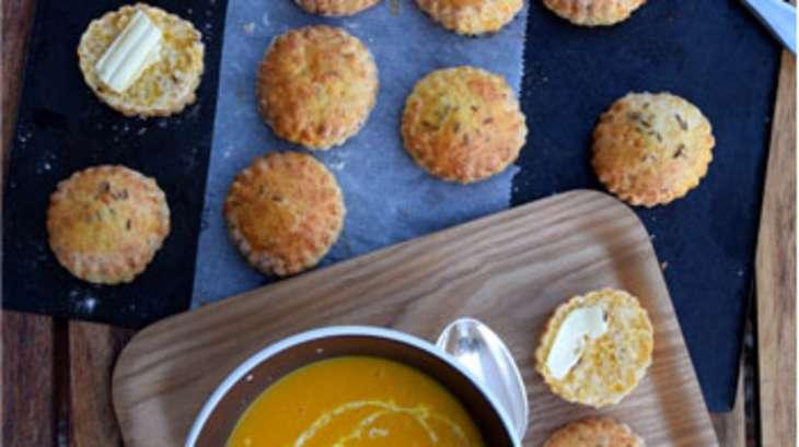 Scones à la mimolette et au cumin