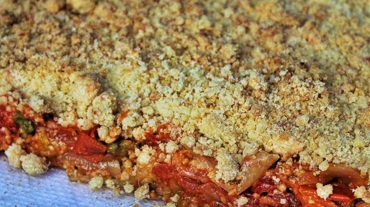 Crumble de tomates au Parmesan