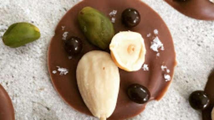 Mendiants chocolat au lait et fleur de sel