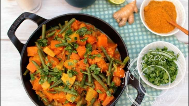 Poêlée thaï de potiron et ananas