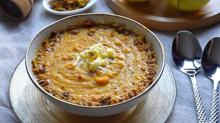 Soupe carottes, pommes, coco et vadouvan