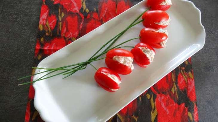 Tomates cerises dattes ou roma farcies au saumon