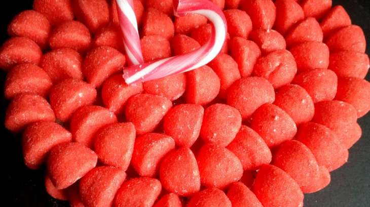 Gâteau de bonbons fraises Tagada