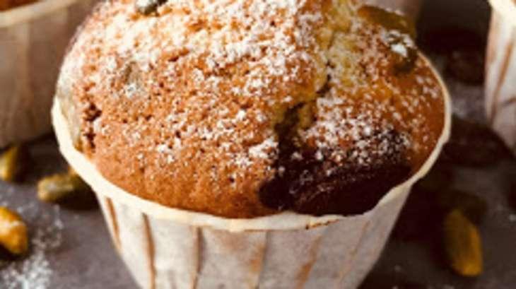 Muffins à la pistache et chocolat