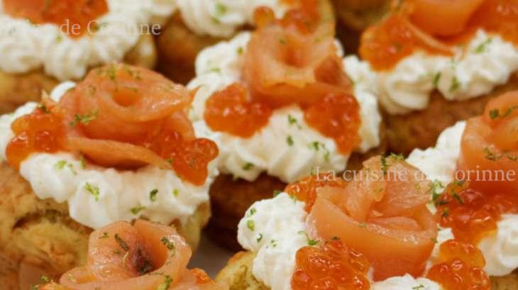 Muffins au saumon fumé et parmesan