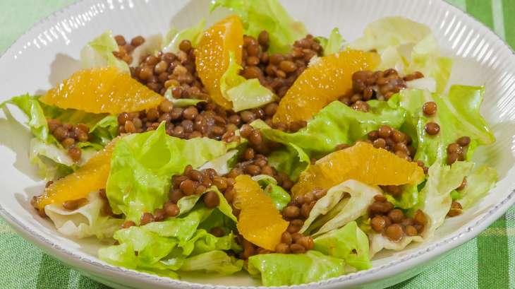 Salade de lentilles aux oranges