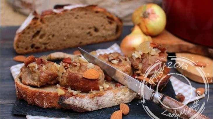 Brouet d'Allemagne de filet mignon ragoût de filet mignon de porc aux amandes et gingembre