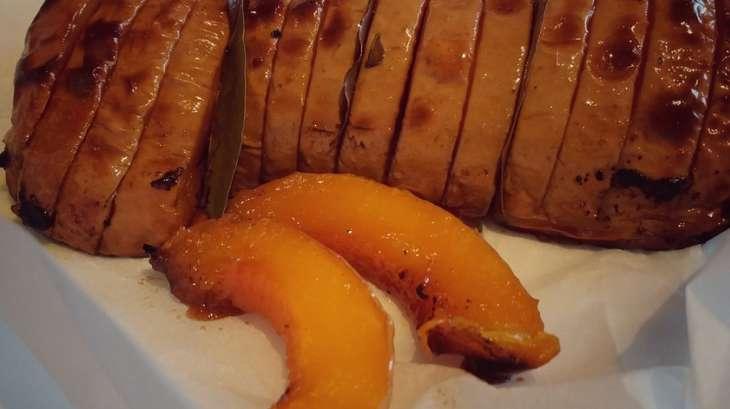 Courge butternut rôtie au four façon Hasselback