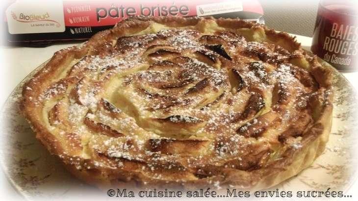 Tarte pommes mascarpone et amande