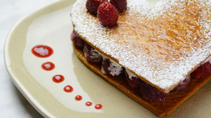 Mille-feuille framboises chantilly