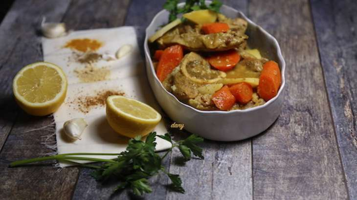 Jarrets de veau aux épices et au citron