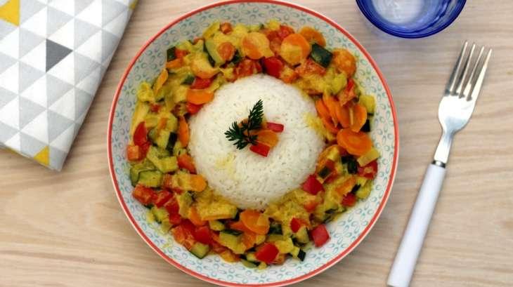 Poêlée de légumes sauce curry/coco