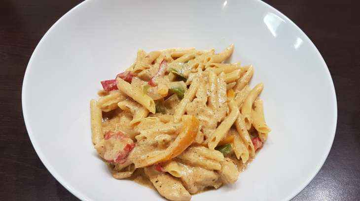 Chicken fajitas pasta