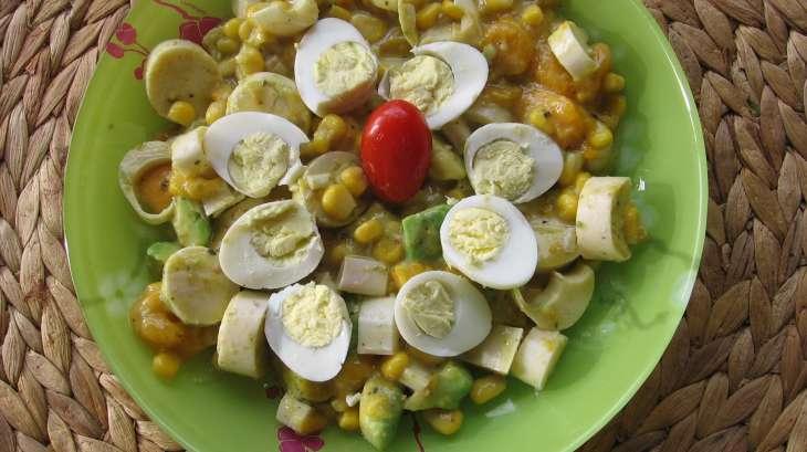 Salade exotique aux cœurs de palmier et mangue