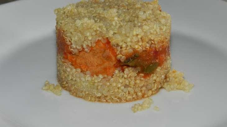 Perles de quinoa façon hamburger