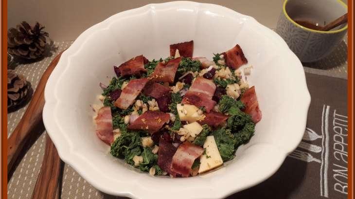 Salade de blé et chou Kale