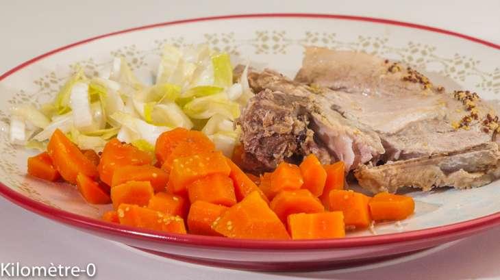 Longe de porc aux carottes et à la cannelle