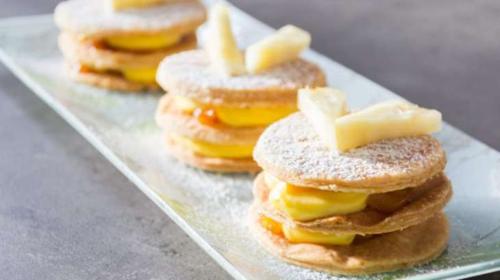Mille-feuille passion ananas