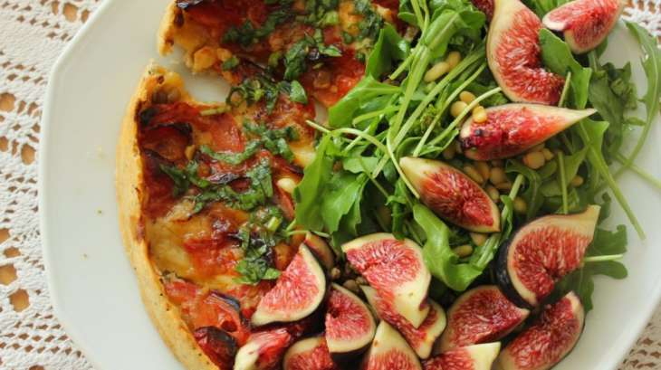 Tarte tomate mozzarella sans gluten