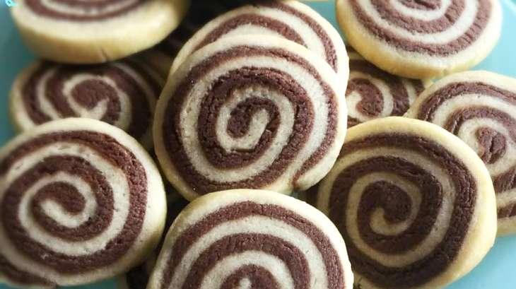 Sablés hollandais chocolat et vanille
