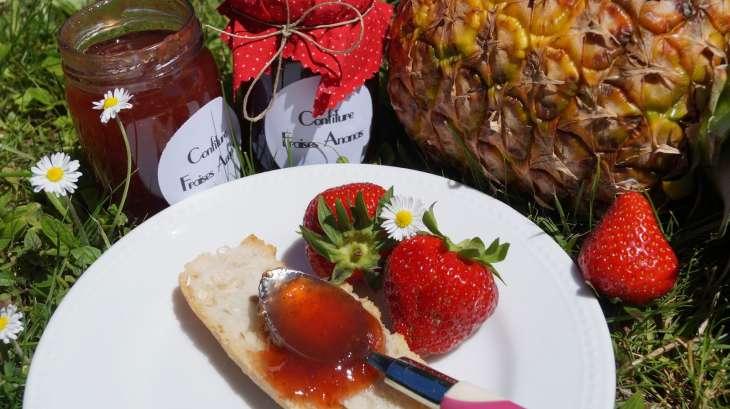 Confiture fraises ananas