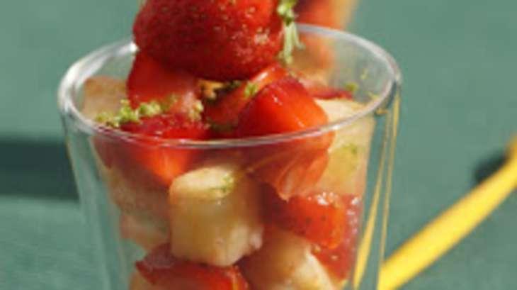 Salade fraises ananas