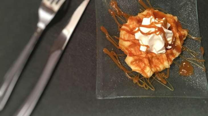 Gaufres Liégeoise au caramel beurre salé et chantilly
