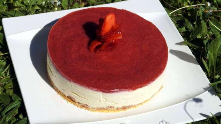 Bavarois fraise vanille