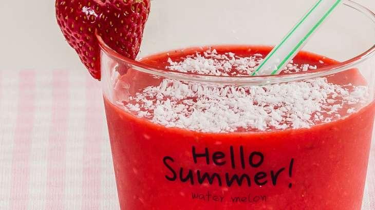 Smoothie fraise coco