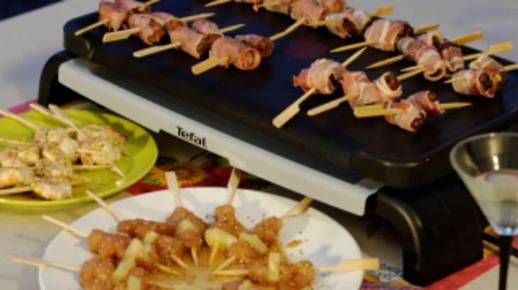 Minis brochettes ap ritives la plancha recette par ma for Cuisine 0 la plancha