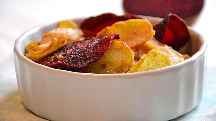 Chips de légumes racines