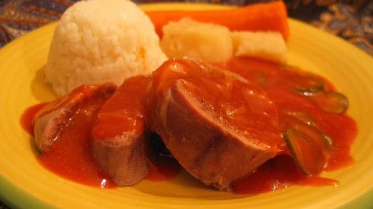 Langue de boeuf sauce piquante recette par grain de sel - Cuisiner langue de boeuf sauce piquante ...