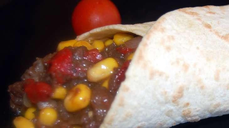 Tortillas de maïs et boudin noir