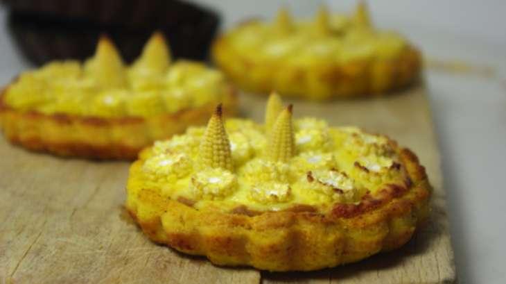 Tarte curry mousse de comté et coeur de maïs