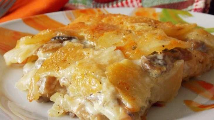 Gratin de pommes de terre et champignons recette par mes inspirations culinaires - Pomme de terre germee comestible ...