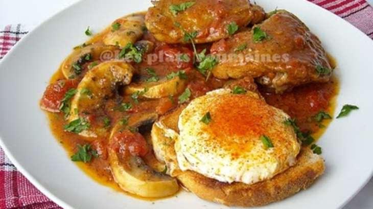 Poulet marengo recette par sara miki - Poulet marengo recette ...