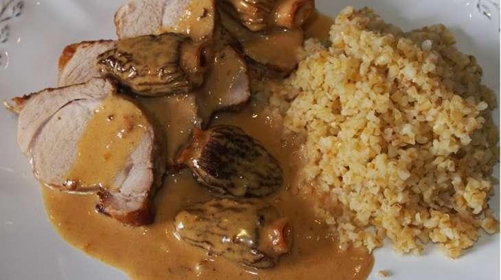 Filet mignon de porc aux morilles recette par schotzy - Cuisiner morilles sechees ...