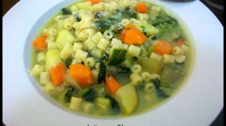 Minestrone de légumes