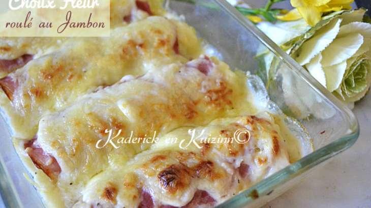 Gratin de chou fleur en b chamel fa on endive au jambon - Cuisiner du chou blanc ...