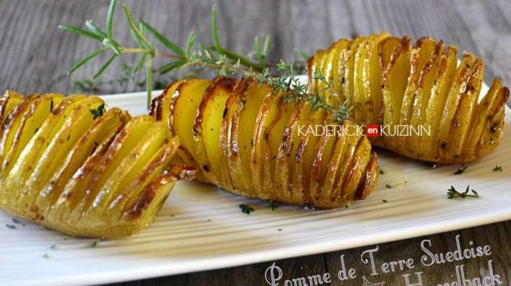 Hasselback pomme de terre su doise pour accompagner viande ou poisson recette par kaderick - Recette de viande pour le reveillon ...